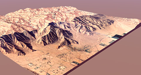 Topographic Map Of San Diego.3d Model Of Southern California And Northern Baja